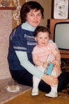 Mum & Paula (Paula looks so much like Isla here)